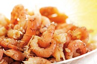 North Sea prawns