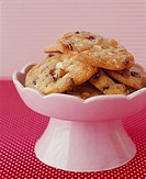 Chocolate Chip Cookies in Pedestal Bowl