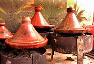 Tajines on charcoal burners