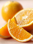 Orange Slices, Half and Orange, Whole Orange