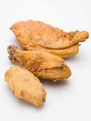 Breaded chicken pieces