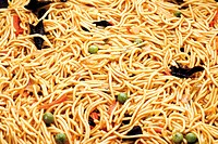 Fried mie noodles, image-filling