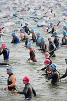 Ironman triathalon event, Penticton, British Columbia, Canada