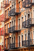 Apartment buildings in Manhattan, New York City, New York, USA