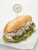 Chicken salad sub sandwich