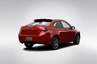 2009 Ford Focus SES in Red _ Rear angle view