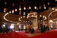 Mohammed Ali Mosque, interior Citadel Cairo Egypt