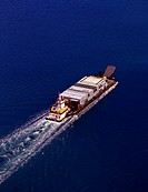 Aerial view of barge