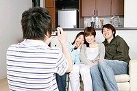 Two young couples take a photo