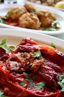 Greek red pepper mezes