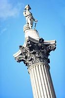 Nelson´s Column In Trafalgar Square, London, England