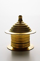 brass oil tea light holder