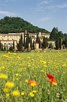 Alatri Lazio Italy Former benedictine monastery La Grancia 13th C in the small village of Tecchiena