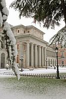 Spain  Madrid  Snow  Prado museum
