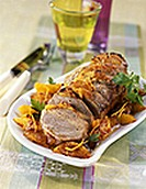 Roast veal with orange