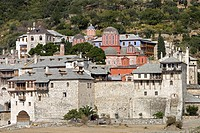 Xenophontos Monastery,dedicated to St  George the Trophybearer,founded in 998,Athos Peninsula,Mount Athos,Chalkidiki,Greece