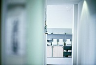 Office buildings, hall, door, gaze, office, table, printers, high_key,