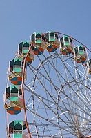 Low angle view of a ferris wheel, Pushkar, Rajasthan, India