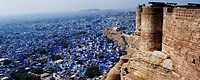 High angle view of a city, Meherangarh Fort, Jodhpur, Rajasthan, India