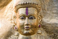 Close_up of a statue, Hampi, Karnataka, India