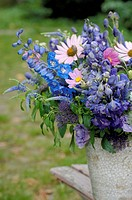 Blue bunch of flowers