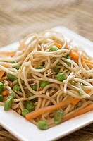 Close_up of noodles in a plate