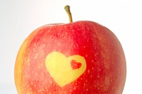 Apple with decorative heat form (thumbnail)
