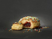 Donut with colourful streusel