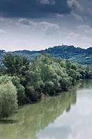 valle tiberina, tevere river, lazio, italy