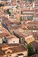 Aerial view of verona old town