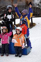 award ceremony of childrens´ skiing race