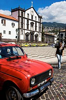 Portugal, Madeira Island, Funchal Old city Town square