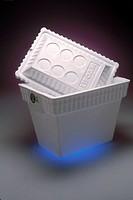 Styrofoam cooler.