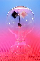 Radiometer. The radiometer was invented by British physicist Sir William Crookes 1832_1919. The instrument was used to measure solar radiation. It con...