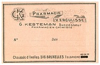 A vintage Belgian medical pharmacy label (thumbnail)