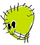 A childlike drawing of a green monster (thumbnail)