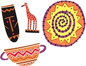 African tourist souvenirs and crafts