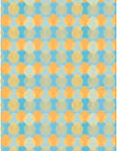 Orange retro leaf shapes on a blue background (thumbnail)