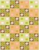 Green and brown geometrical rectangle patterns