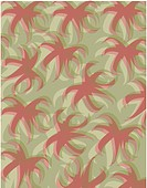 A green and brown palm tree top pattern