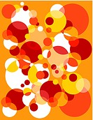 Red, orange and white bubble burst pattern