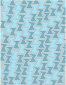 Retro blue geometric shapes on a gray background