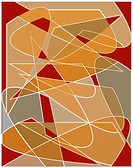 Red and brown abstract art pattern