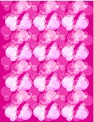 Pink and white champagne bubble pattern on pink background
