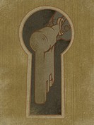 A key entering a keyhole