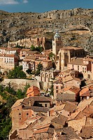 Panoramic view of Albarracín (Teruel)