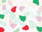 Whimsical leaf pattern