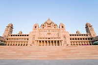 Facade of a palace, Umaid Bhawan Palace, Jodhpur, Rajasthan, India