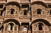 Low angle view of a fort, Mehrangarh Fort, Jodhpur, Rajasthan, India