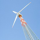Low angle view of a wind turbine, Jaisalmer, Rajasthan, India